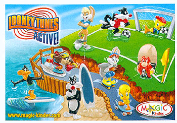 Европейский вкладыш к серии Looney Tunes Active (2008, Kinder Surprise)